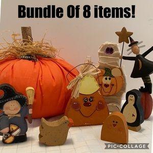 Halloween decorations pumpkin witch candy corn